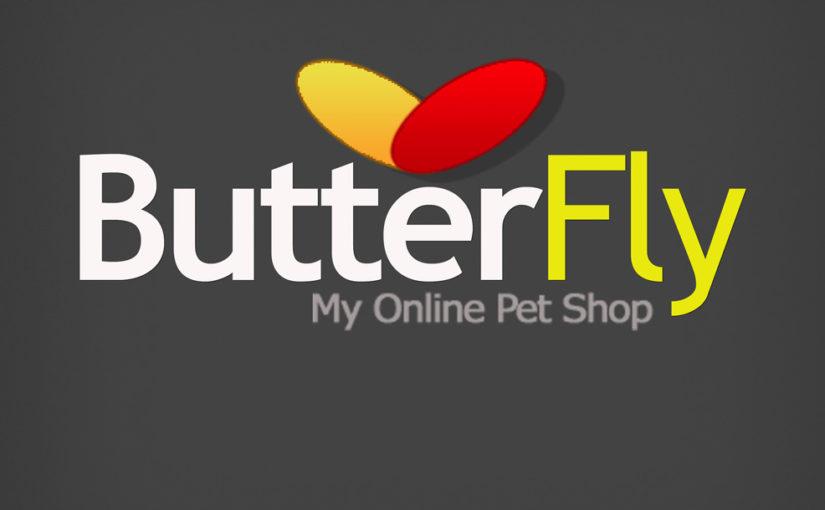 Butterfly Online Pet Shop Free Logo