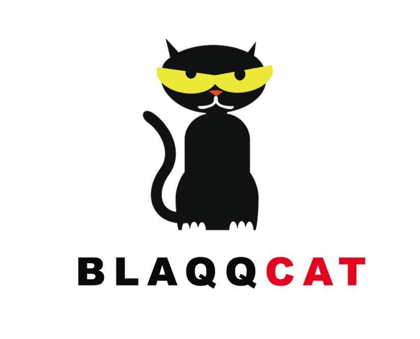 black cat free logo design in psd