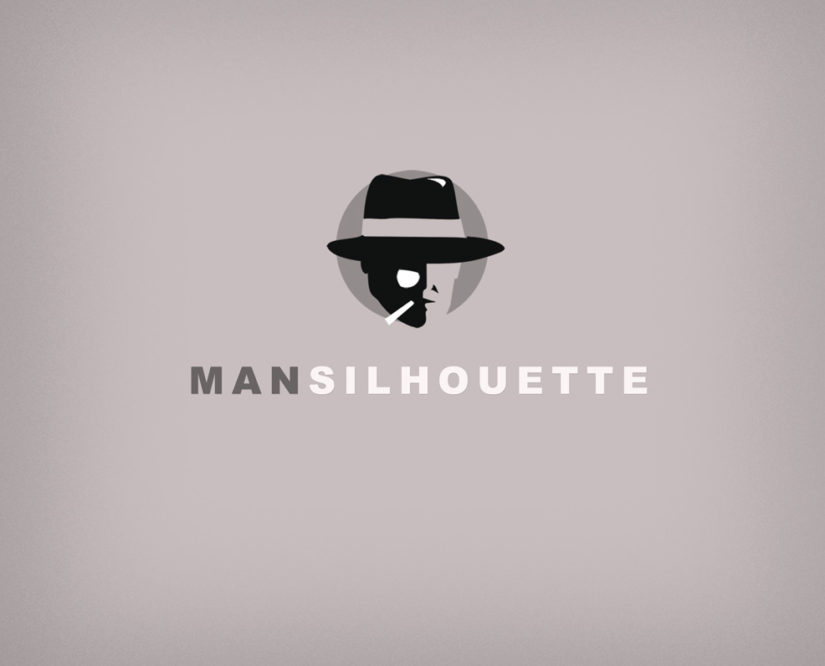mistery man silhouette logo download