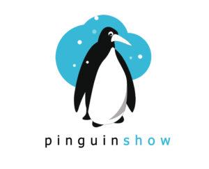 pinguin snow free logo design