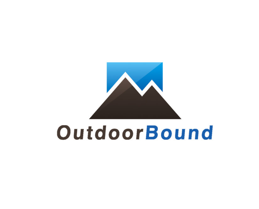 outdoor mountain logo design download vector