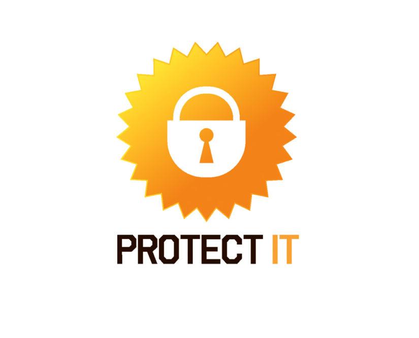 IT security logo download vector