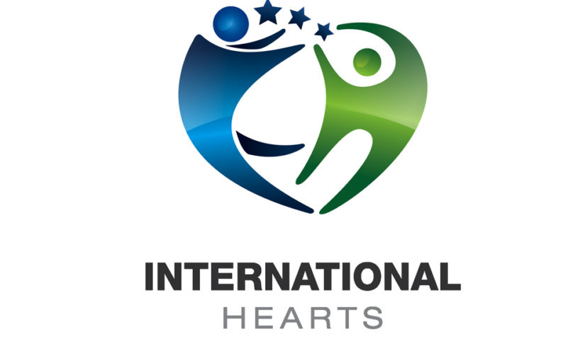 International Hearts Health and Care Free Logo