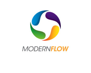 Modern flow logo design free psd and vector