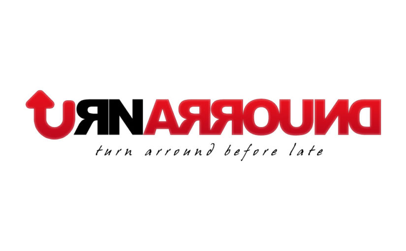 Turn Arround Typography Logo Design- Free Download