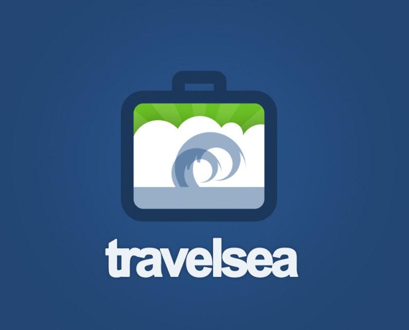 travel sea logo design psd and vector