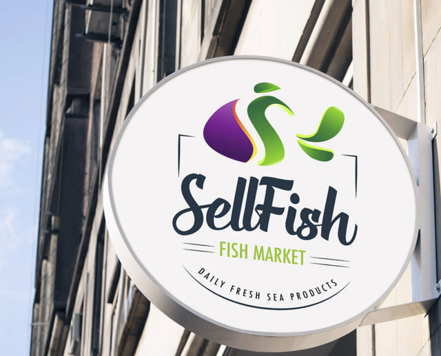 Fish logo design