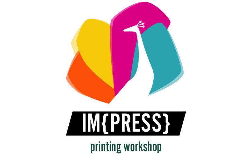 Peacock printing logo – Free press template