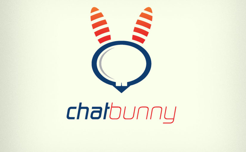 Chat bunny free logo