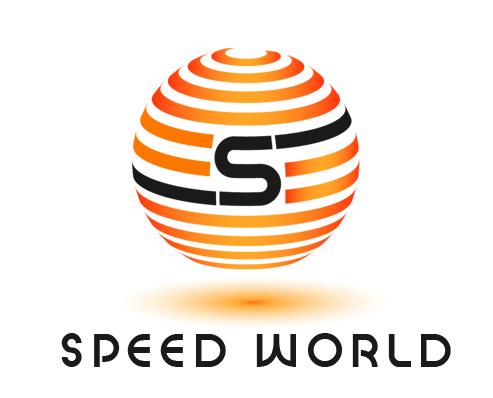 free speed world globe logo design