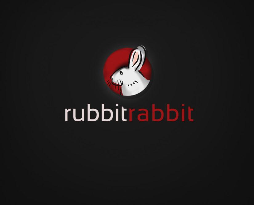rabbit free logo design psd