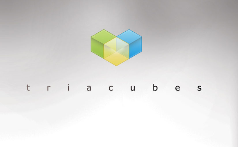 Tria Cubes Free Logo template