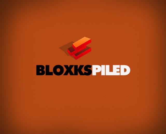 red blocks brics piled free logo