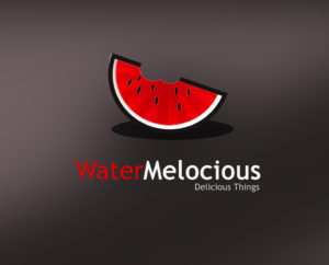 Delicious watermelon free logo