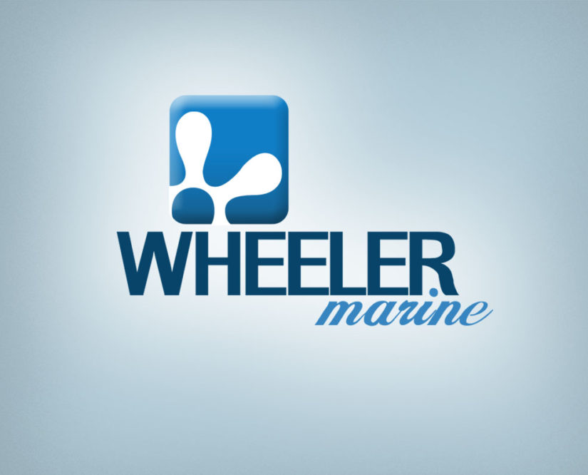steering wheel marine free logo design