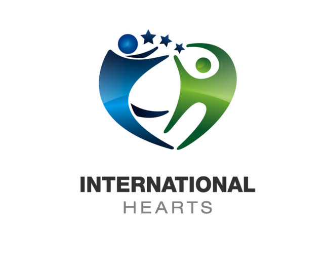 International hearts logo download psd and vector