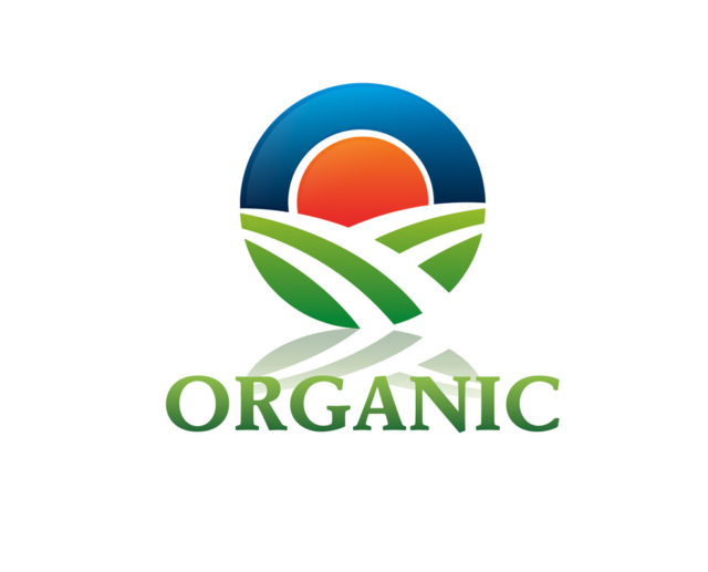 Organic farm free logo PSD and vector