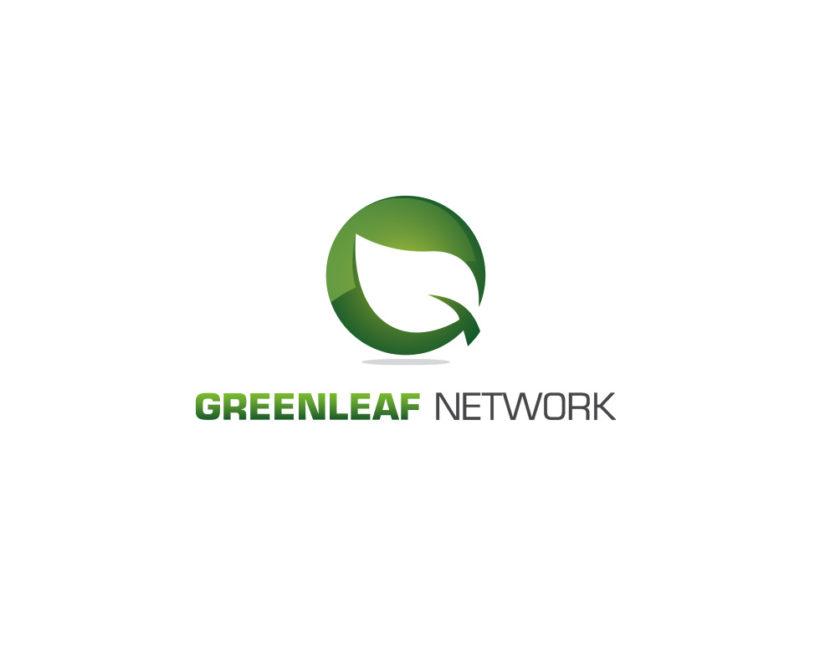 Green leaf logo design download