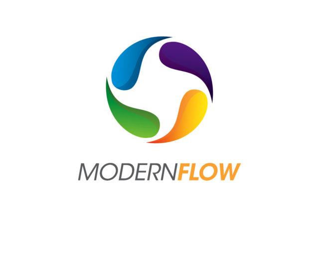 Modern flow logo design free psd and vector