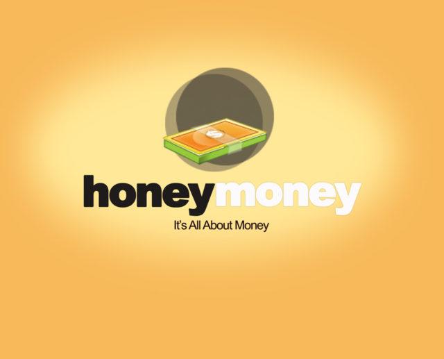 honey money logo template PSD