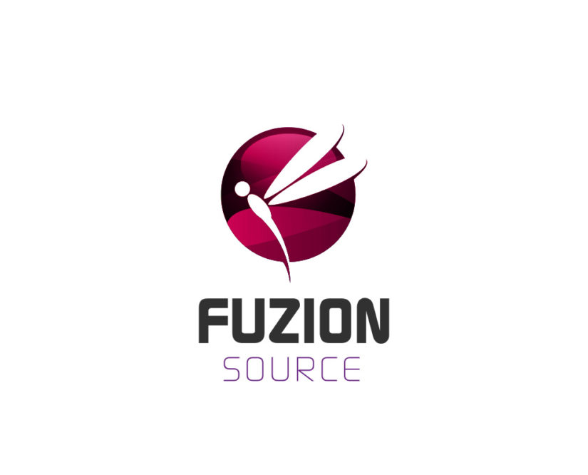 Fuzion Source Dragonfly Free Logo Design