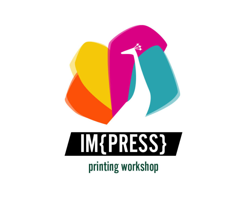 Peacock printing and press logo design