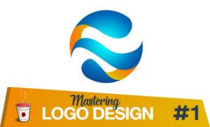Logo design tutorial abstract globe logo