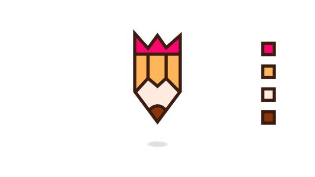 pencil logo design