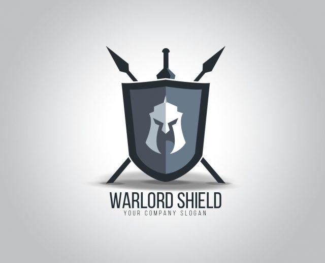 warrior shield logo design